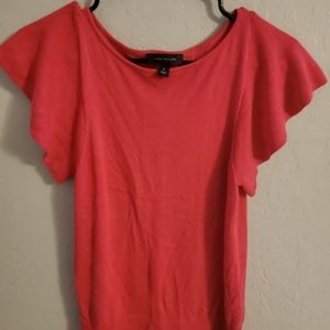Ann Taylor red top